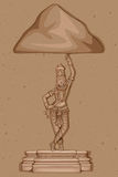 Rocznik statua Indiańska bogini Saraswati rzeźba Fotografia Stock