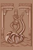 Rocznik statua Indiańska bogini Saraswati rzeźba Obrazy Royalty Free