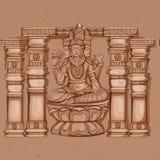 Rocznik statua Indiańska władyki Brahma rzeźba Zdjęcia Stock