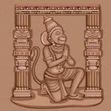 Rocznik statua Indiańska władyki Hanuman rzeźba Zdjęcie Royalty Free