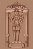 Rocznik statua Indiańska władyki Shiva rzeźba Obrazy Stock