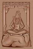 Rocznik statua Indiańska władyki Shiva rzeźba Obraz Stock
