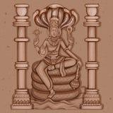 Rocznik statua Indiańska władyki Shiva rzeźba Zdjęcie Stock
