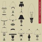 Rocznik stołowa lampa  Zdjęcia Stock