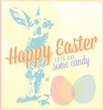 Rocznik Szczęśliwa Wielkanocna karta Obraz Royalty Free