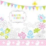 Rocznik szczęśliwy Easter Obraz Stock