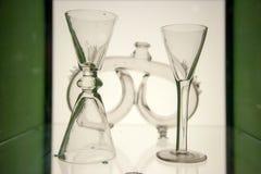 Rocznik szklanych filiżanek stary glasswork od Sztokholm, Szwecja Obraz Royalty Free