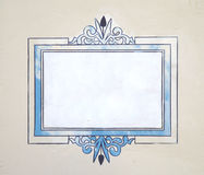 rocznik szyldowa ściany zdjęcie stock