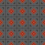 Rocznik tafluje w zawiły sposób szczegóły dla dekoracyjnego spojrzenia retro bezszwowy wektora Ceramiczna farby podłoga, ornament ilustracja wektor