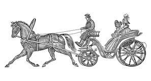 rocznik taksówkę ilustracja wektor