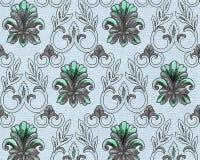 Rocznik tapeta, Ornamentacyjna tekstura, dekoracja Obrazy Stock