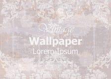 Rocznik tapety wektor Klasycznego ornamentu elegancka struktura Grunge tła tematu retro wystroje ilustracji