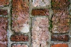 Rocznik tekstura stary brickwork w zamkniętym widoku fotografia royalty free