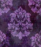 Rocznik tekstury stary papierowy wektor Luksusowego baroku wzoru ornamentu tapetowy wystrój Tkanina, tkanina, płytki Fiołkowi kol ilustracji