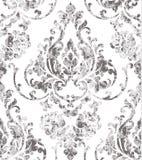Rocznik tekstury wzoru rokokowy wektor Kwiecistego ornamentu dekoracji stary skutek Wiktoriański grawerujący retro projekt luz royalty ilustracja