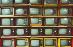 Rocznik telewizja, retro technologia zdjęcia stock