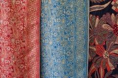 Rocznik tkaniny kolorowa tekstura Obrazy Stock
