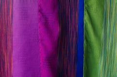 Rocznik tkaniny kolorowa tekstura Zdjęcia Stock