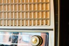 Rocznik tubki radio od na boku Obraz Stock