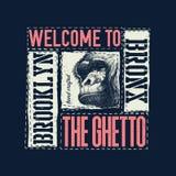Rocznik typografii wektoru miastowa ilustracja Zdjęcie Royalty Free
