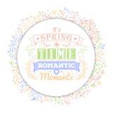 Rocznik typografii wiosny kwiat i literowanie Zdjęcie Royalty Free