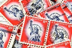 Rocznik USA swobody znaczek Zdjęcie Royalty Free