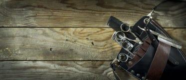 Rocznik ustawiający fryzjer męski Obraz Royalty Free