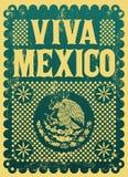 Rocznik Viva Meksyk - meksykański wakacje Zdjęcie Stock