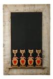 Rocznik walentynek miłości kotów drewna ramy Chalkboard Odzyskujący Iso Zdjęcie Stock