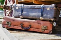 Rocznik walizki - HDR Fotografia Stock