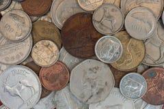 Rocznik waluty Irlandzkie monety Zdjęcie Royalty Free