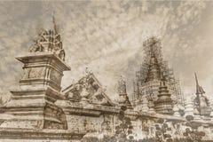 Rocznik - Wata zakazu melina, Maetang Chiangmai Tajlandzka świątynia Fotografia Royalty Free