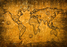 Rocznik światowa mapa Obrazy Royalty Free