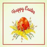 Rocznik Wielkanocna karta Fotografia Stock