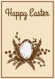 Rocznik Wielkanocna karta Fotografia Royalty Free