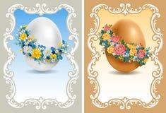 Rocznik Wielkanocne karty ilustracja wektor