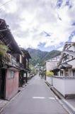 Rocznik wioska przy Miyajima, Japan Fotografia Royalty Free
