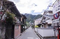 Rocznik wioska przy Miyajima, Japan Zdjęcie Royalty Free