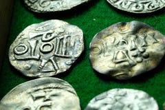 Rocznik wybijać monety monety Zdjęcie Royalty Free