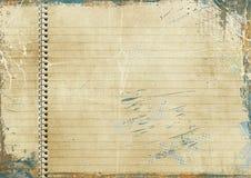 Rocznik wykładający papier Obrazy Stock