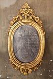 Rocznik Złota rama na ścianie Obrazy Stock