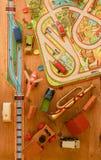 Rocznik zabawki Zabawki dla chłopiec retro zabawki Płaski projekt Fotografia Stock