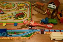 Rocznik zabawki Zabawki dla chłopiec retro zabawki Obrazy Royalty Free