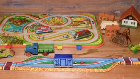 Rocznik zabawki Zabawki dla chłopiec retro zabawki Retro skutek Obrazy Royalty Free