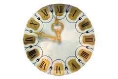 Rocznik zegarowa tarcza na białym tle zdjęcia stock