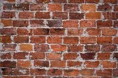 Rocznika ściana z cegieł czerwony tło, ściana z cegieł dla tło tekstury Zdjęcia Royalty Free