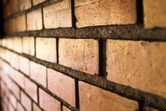 Rocznika ściana z cegieł tło Abstrakcjonistyczny wizerunek stary wraku stucc Obraz Royalty Free