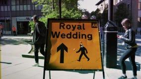 Rocznika ślubu ekranowy Królewski znak zdjęcie wideo