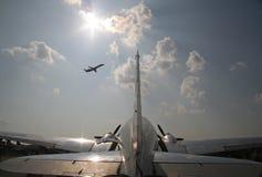 Rocznika śmigła samolot Zdjęcie Royalty Free