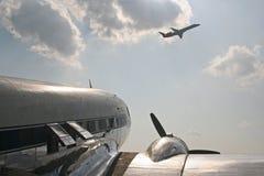 Rocznika śmigła samolot Fotografia Royalty Free